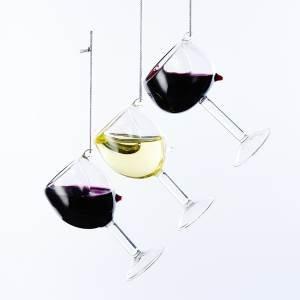 Glass Wine Glass Ornaments