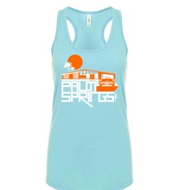 Jool City Glam Ranch Cancun Blue Women's Tank Top