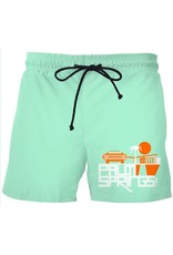 Mod Car Mint Green Men's Swim Trunks