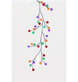 6' White Garland With Multicolor LED