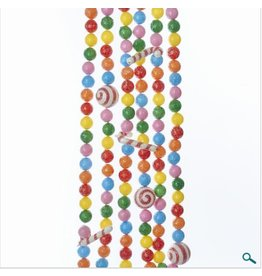 Multi-Color Ball and Candy Cane Garland
