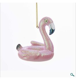 Pink Flamingo Pool Float Ornament
