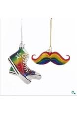 Pride Mustache And Sneaker Ornament Assorted