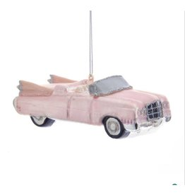 Retro 60's Pink Roadster Ornament