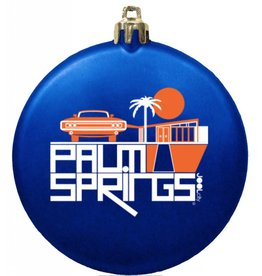 Mod Car Flat Disc Ornament