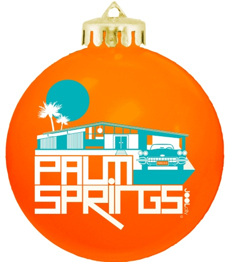 Glam Ranch Orange Ball Ornament