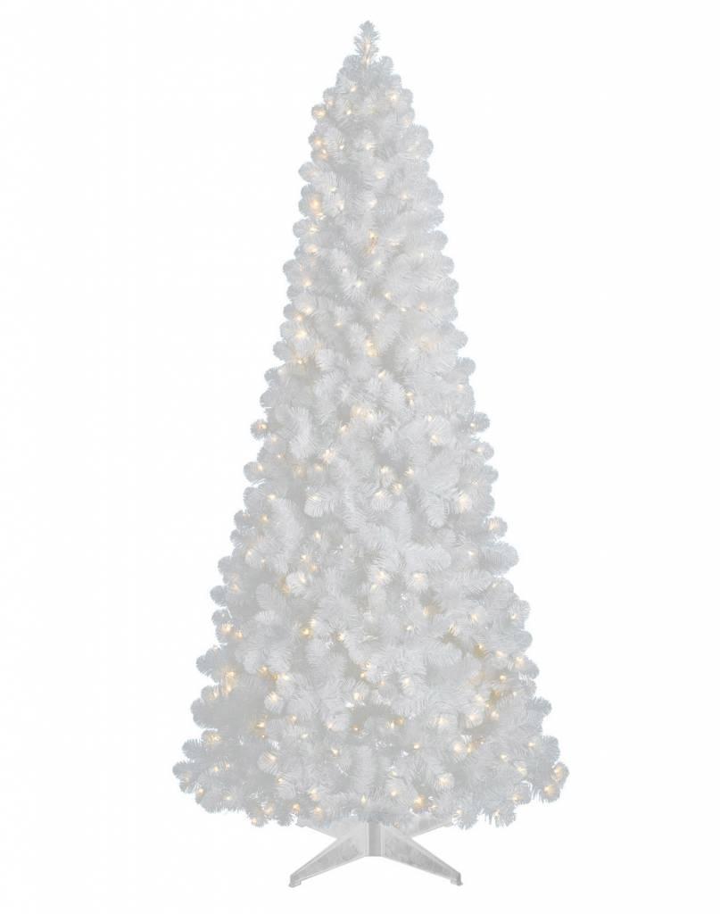 White Slim Xmas Tree 4'