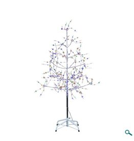 Silver Bark Christmas Tree Multi Color 6'