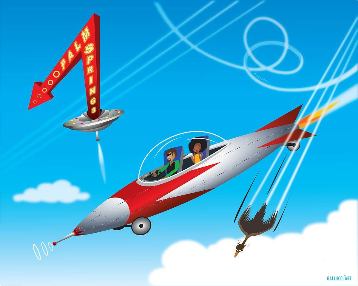 Rocketing To Palm Springs Matte 11x14