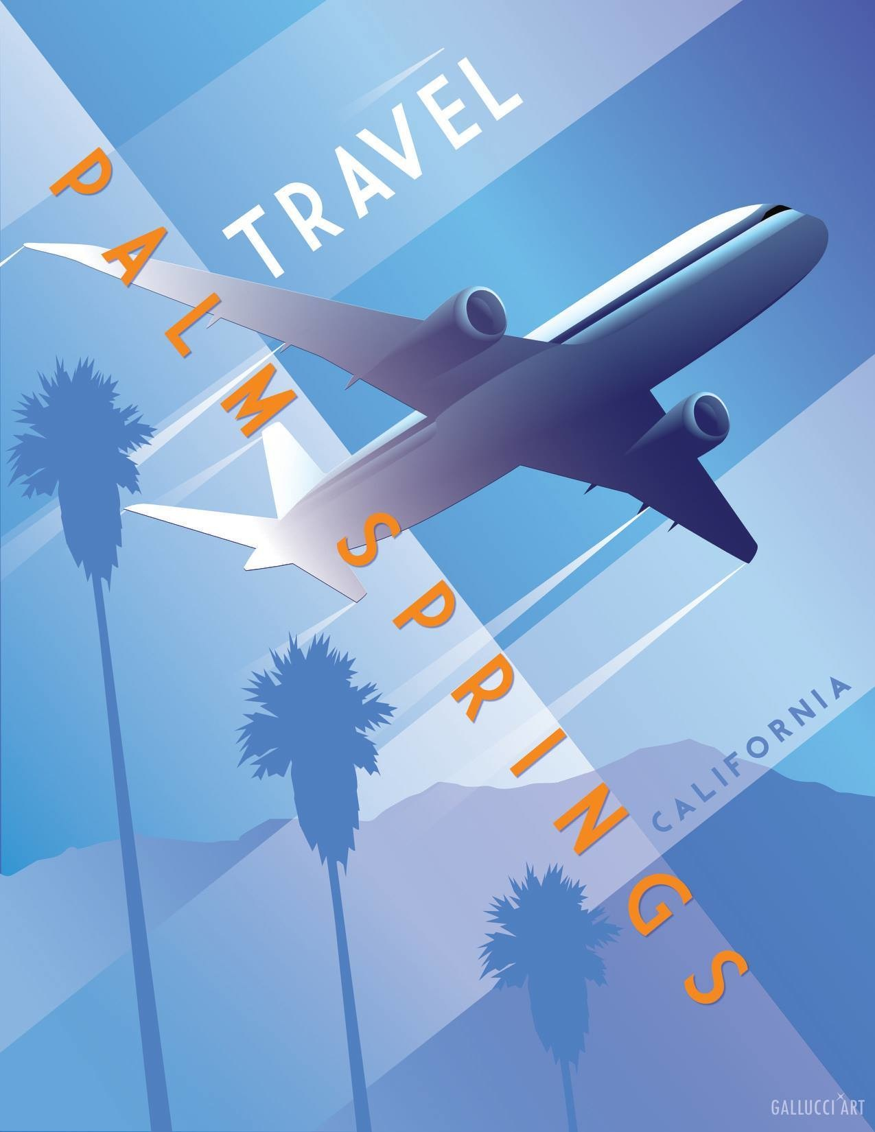 Travel Palm Springs Matte 11x14