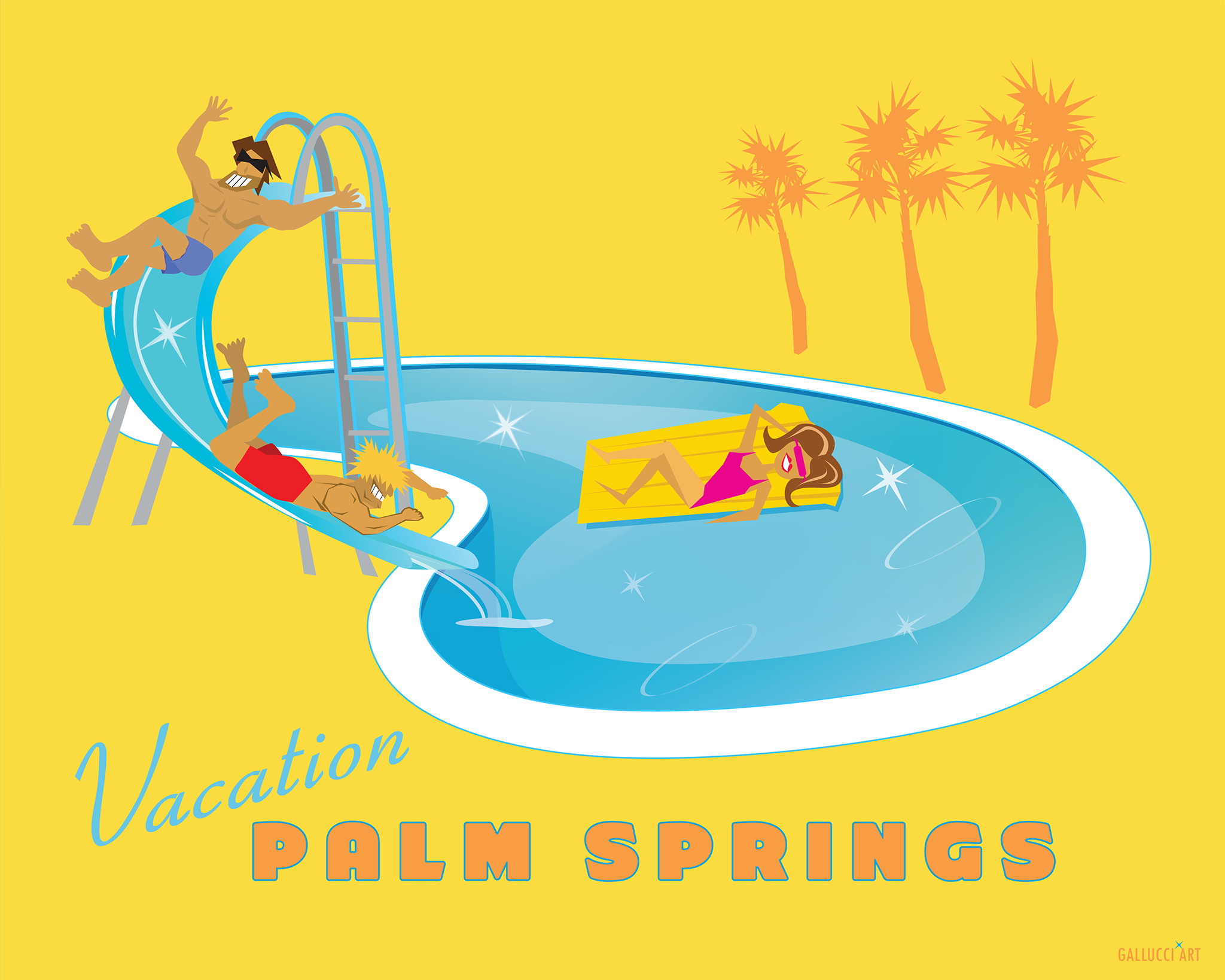 Vacation Palm Springs Matte 11x14