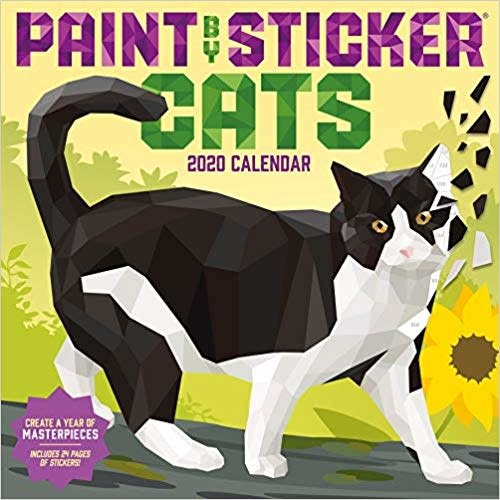 Paint By Stickers Cats Calendar 2020