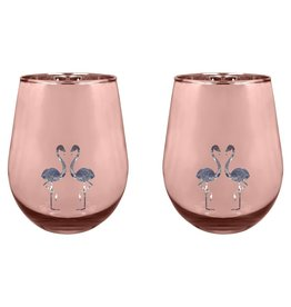 Glasses Flamingo Set Of 2