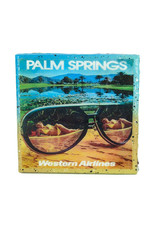 Palm Springs Western Airlines Sunglasses Coaster
