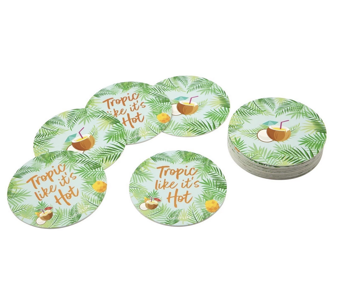 Coasters Pina Colada Set Of 16