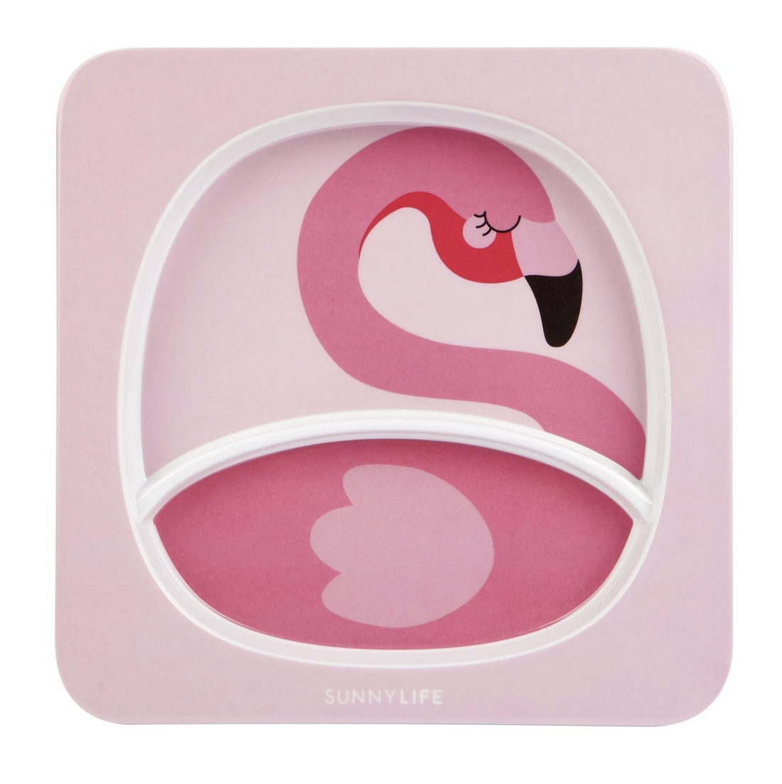 Kids Plate Flamingo