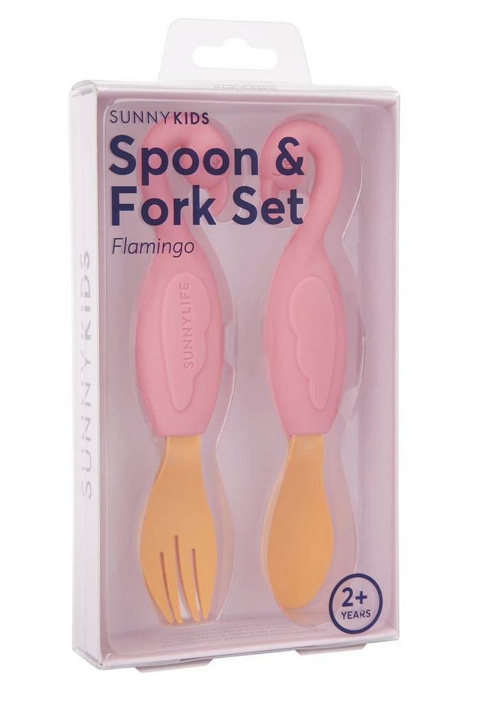 Flamingo Spoon And Fork Set