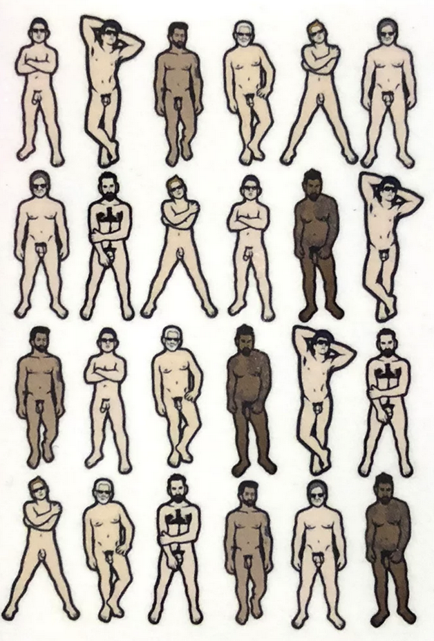 Male Nudes 8x10 Print