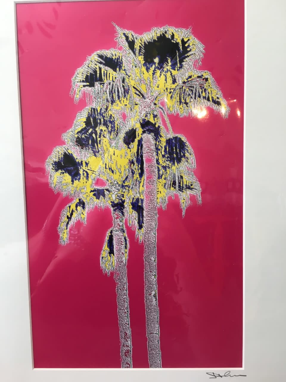 Fantasy Twin Palms Magenta Matted- S