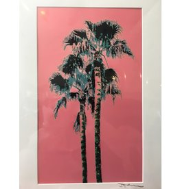 Fantasy Twin Palms Pink Matted- L