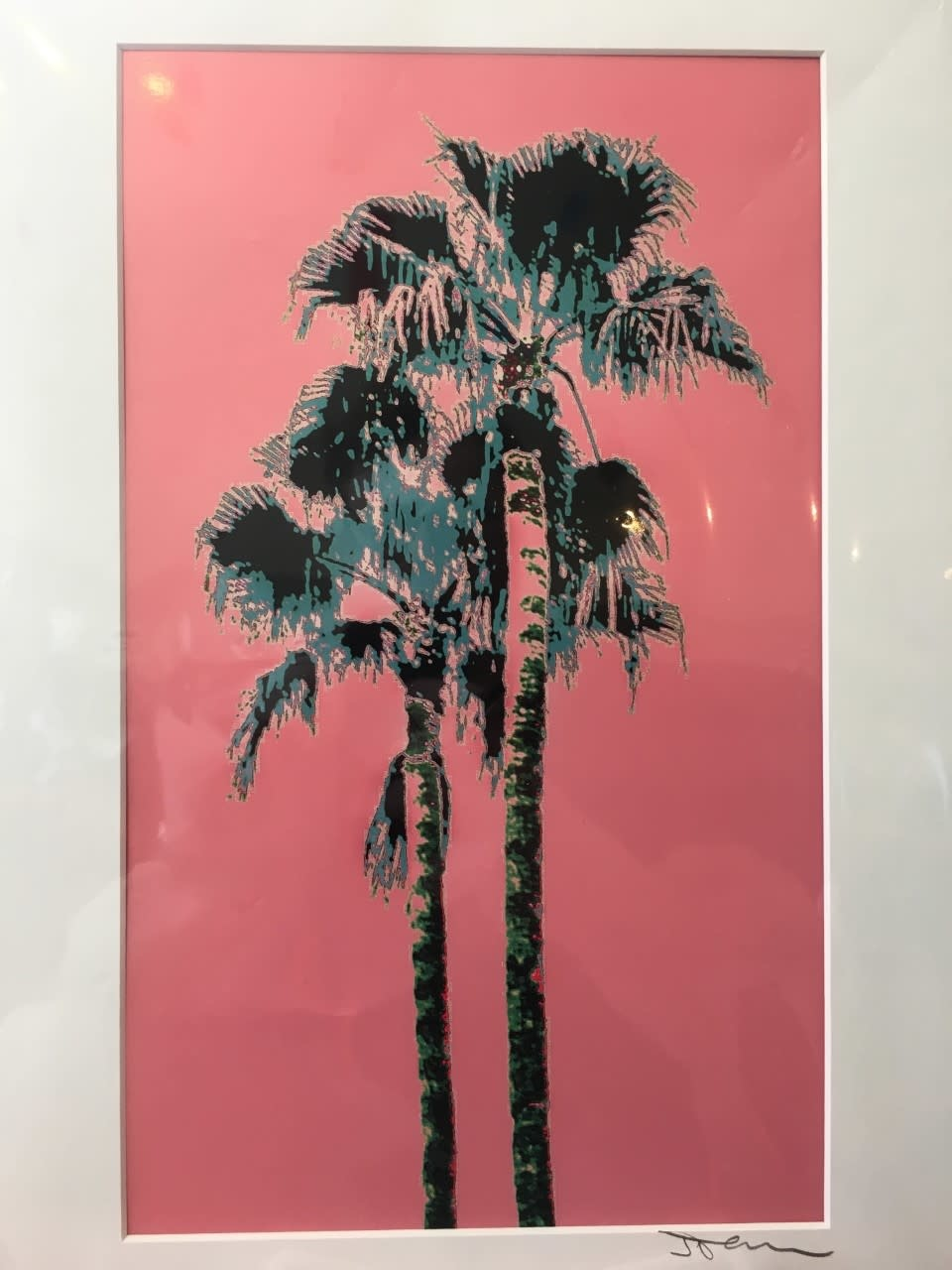 Fantasy Twin Palms Pink Matted- S