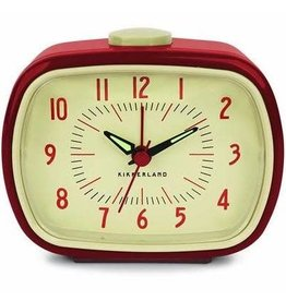 Retro Alarm Clock Red