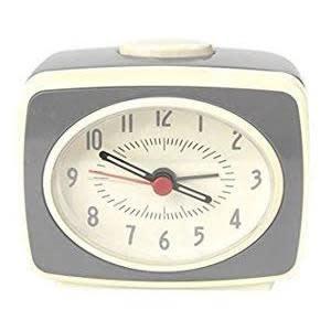 Small Classic Alarm Clock: Grey
