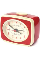 Small Classic Alarm Clock: Red