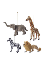Plastic Furry Animals Assorted Ornament