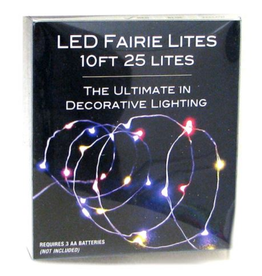 LED Fairie Lights Multi Color 10'