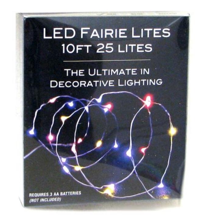 LED Fairie Lights Multi Color 10'