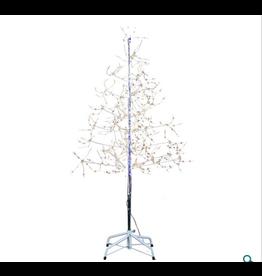 Silver Bark Christmas Tree White 6'