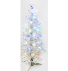 Snowflake Iridescent Tree LED 4'