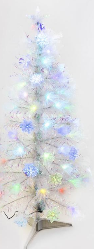 Snowflake Iridescent Tree LED 4'
