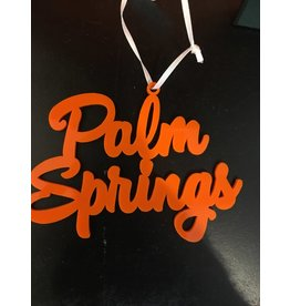 Palm Springs Palm Springs Orange Ornament