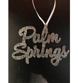 Palm Springs Palm Springs Silver Glitter Ornament