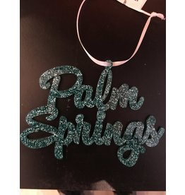 Palm Springs Palm Springs Turquoise Glitter Ornament