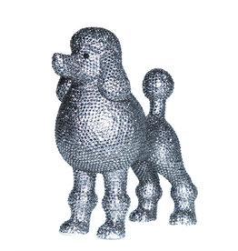 Graphite Rhinestone Poodle Bank