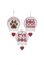 Resin Rescue Dog Sign Ornament