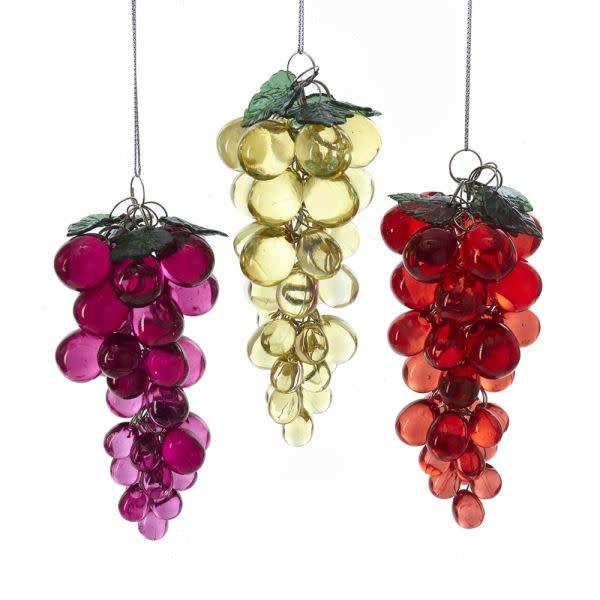 Acrylic Beaded Grapes Ornament