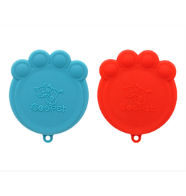 Pet Can Cover Set / Red and Blue