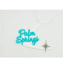 Palm Springs Turquoise Palm Springs Boomerang Ornament
