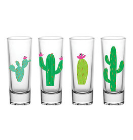 Cactus 2 oz. Shot Glass Set of 4