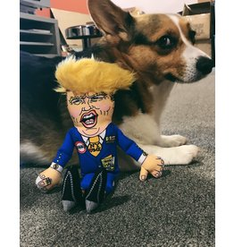 """Trump Small Dog Toy - 12"""" W/ Squeaker"""