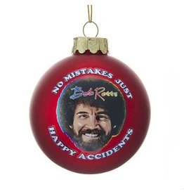 Bob Ross Happy Accidents Ornament