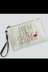 Palm Springs Flamingo Palm Springs Zipper Bag