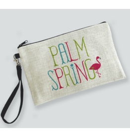 Palm Springs Flamingo Palm Springs Zipper Bag