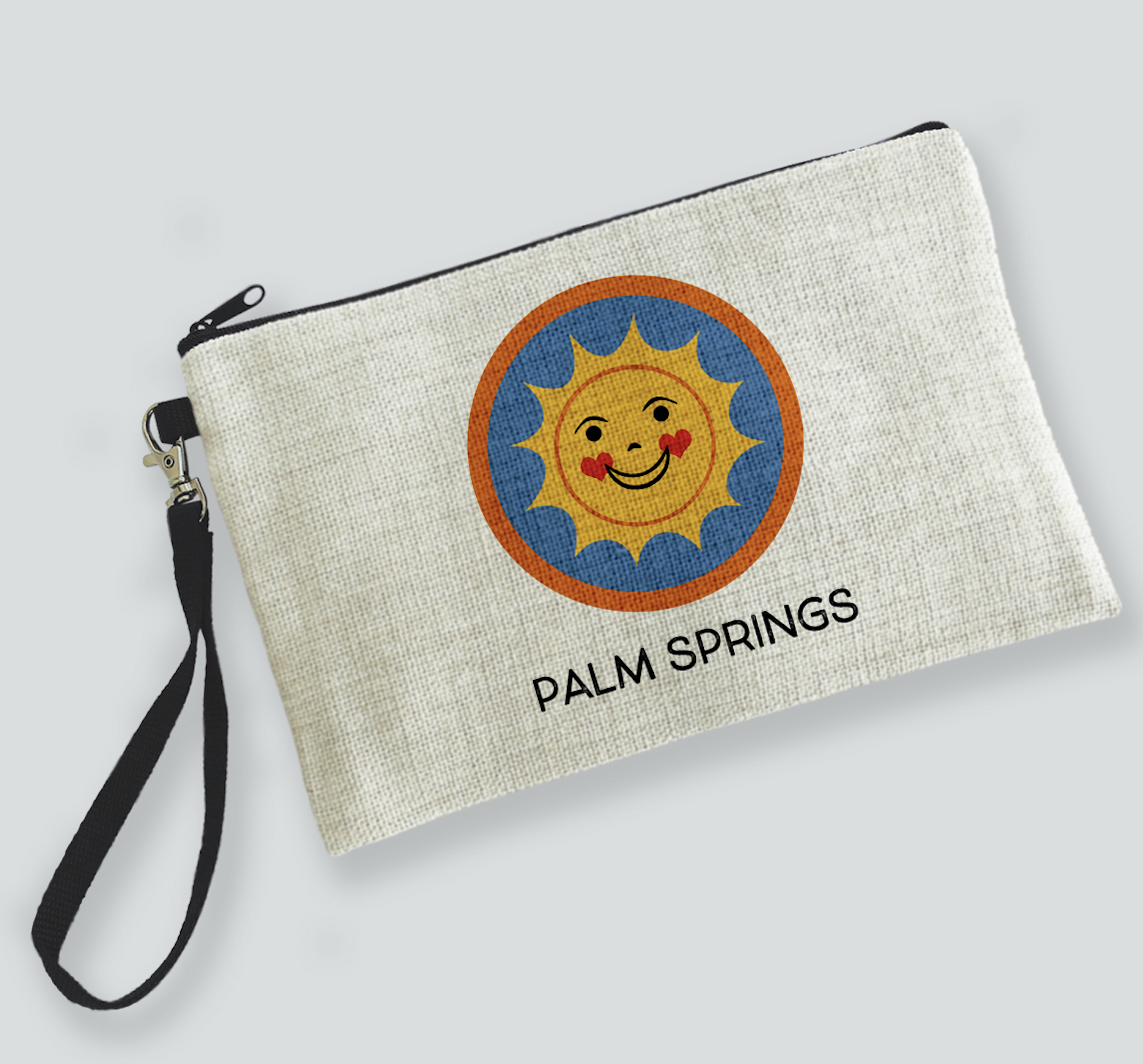 Palm Springs Happy Sun Palm Springs Zipper Bag