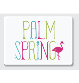 Palm Springs Palm Springs Flamingo White/Color Magnet