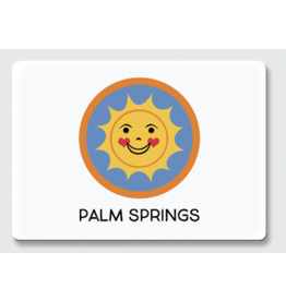Palm Springs Happy Sun Palm Springs Magnet
